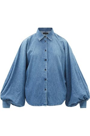 Made In Tomboy Women Denim - Claire Balloon-sleeve Denim Shirt - Womens