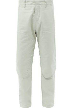 Stone Island Men Cargo Pants - Mercerised Cotton-jersey Cargo Trousers - Mens - Grey