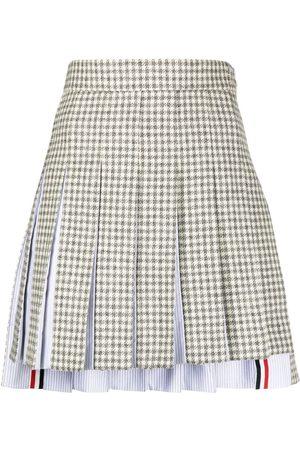 Thom Browne Mini dropped back pleated skirt - Grey
