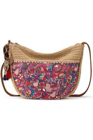 Sakroots Ryder Printed Crescent Crochet Crossbody Bag