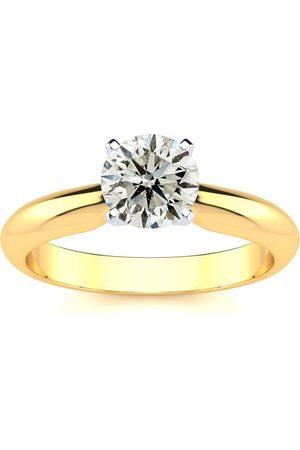 SuperJeweler 1.25 Carat Diamond Solitaire Engagement Ring in 14K Yelllow Gold (2.0 g) (