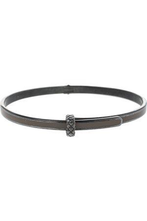 Bottega Veneta Sterling Silver Enamel Cuff Bracelet S