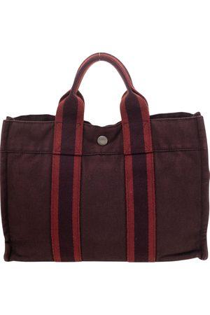 Hermes Canvas Fourre Tout Holdall PM Bag