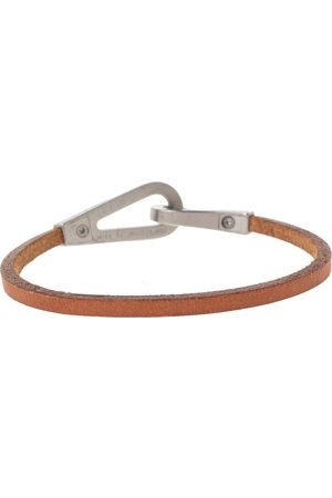 Hermes Men Bracelets - Hermès Bridle Leather Brushed Palladium Plated Jumbo Jet Bracelet