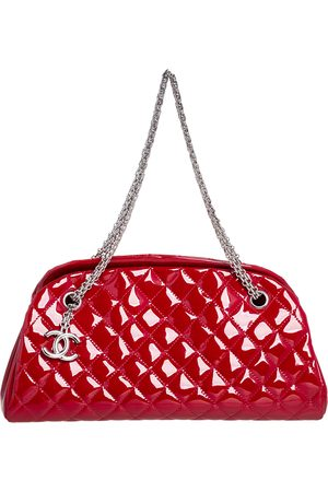 Chanel Quilted Patent Leather Medium Just Mademoiselle Bowling Bag