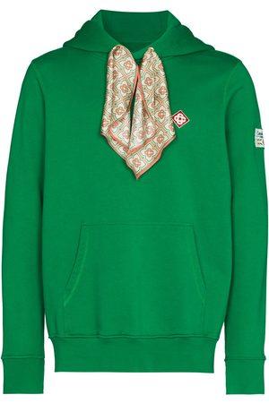 Casablanca Men Hoodies - Scarf hooded sweatshirt