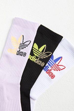 adidas Originals Split Trefoil Logo Crew Sock 3-Pack