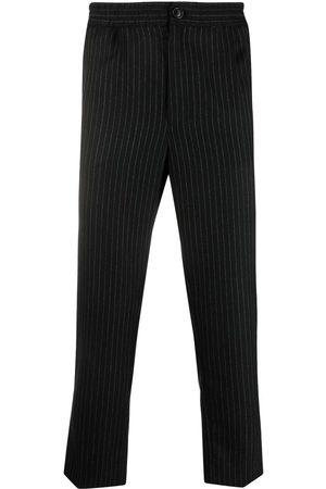 Ami Men Sweatpants - Cropped pinstripe track pants