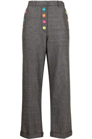 MIRA MIKATI Floral-embroidered tailored trousers