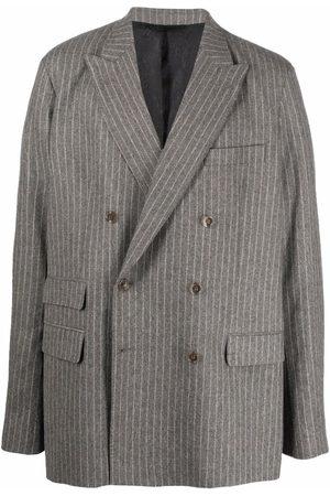 Acne Studios Stripe-print double-breasted blazer - Grey