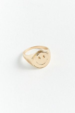 Urban Outfitters Smile Signet Ring