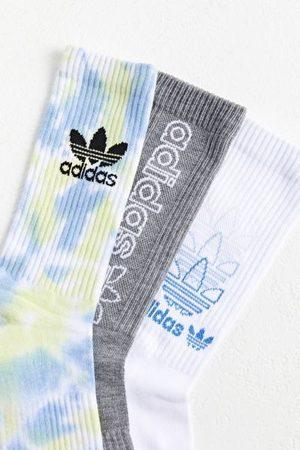 adidas Men Neckties - Originals Tie-Dye Colors Crew Sock 3-Pack