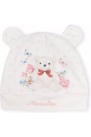 Monnalisa Teddy bear logo beanie