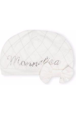 Monnalisa Embellished-logo bow hat