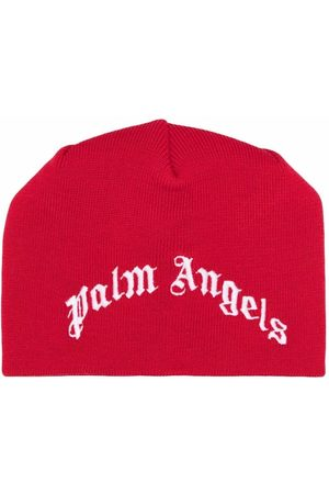 Palm Angels Kids Intarsia-logo beanie