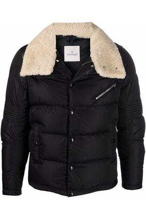 Moncler Leo down-filled biker jacket