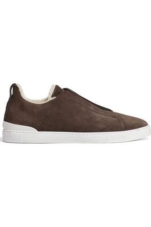 Ermenegildo Zegna Suede low-top sneakers