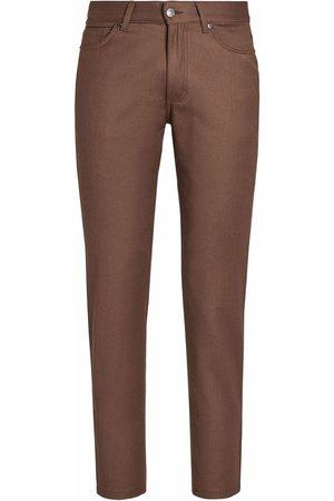 Ermenegildo Zegna Men Straight - Straight-leg wool flannel jeans