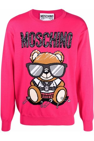 Moschino Patterned intarsia-knit jumper