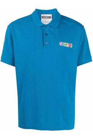 Moschino Painted-logo polo shirt