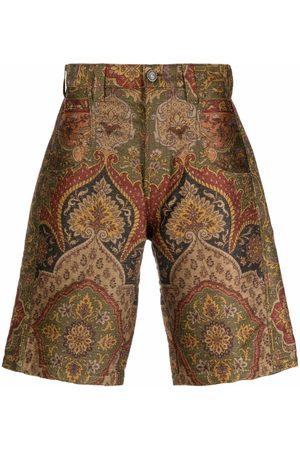 ETRO Men Shorts - Paisley-print tailored shorts