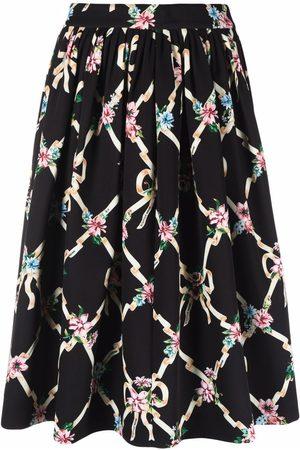 Boutique Moschino Argyle floral-print skirt
