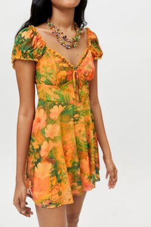 Urban Outfitters UO Audrey Mesh Mini Dress