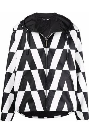 VALENTINO Men Jackets - Logo-print hooded jacket