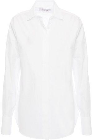 VALENTINO Woman Cotton-poplin And Piqué Shirt Size 40