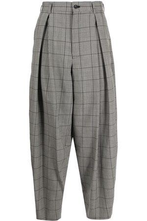 Comme Des Garçons Homme Plus Pleated check-pattern wide-leg trousers