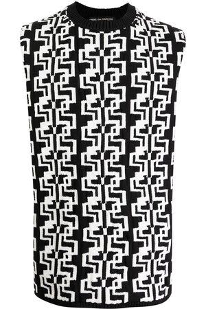 Comme Des Garçons Homme Plus Digital-effect knit vest