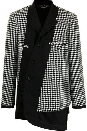 Comme Des Garçons Homme Plus Men Blazers - Asymmetric houndstooth-panel jacket