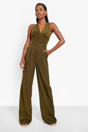 Boohoo Womens Straight Leg Slouchy Woven Trouser - - 2