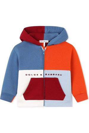 Dolce & Gabbana Kids Colour-block cotton hoodie