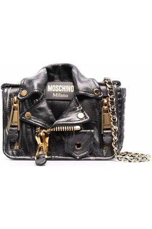 Moschino Women Shoulder Bags - Biker-jacket crossbody bag