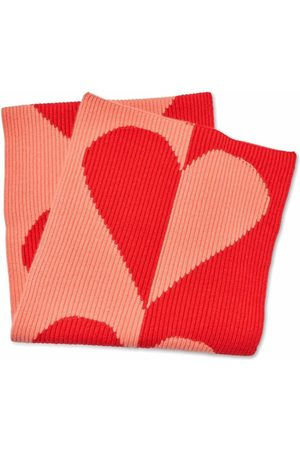 Carolina Herrera Two-tone heart cashmere scarf