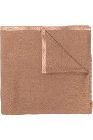 Fay Frayed-edge scarf - Neutrals
