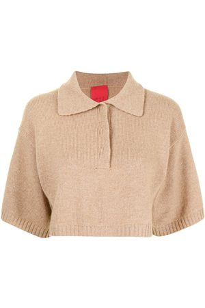 Cashmere In Love Demi cropped knitted shirt
