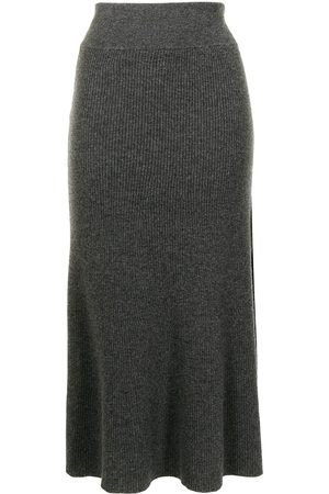 Cashmere In Love River A-line cashmere skirt - Grey