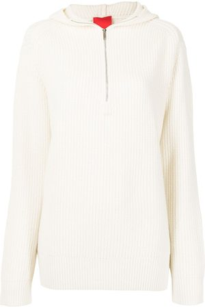 Cashmere In Love Oversize zipped cashmere-knit hoodie