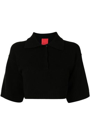 Cashmere In Love Demi cropped cashmere polo shirt