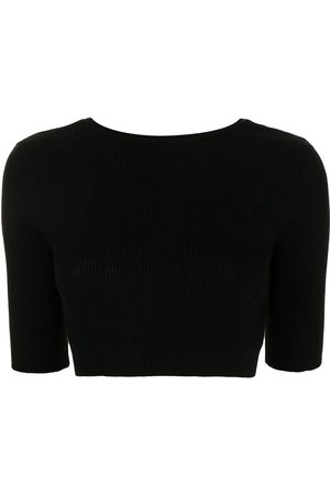 Cashmere In Love Liza scoop-back cropped top
