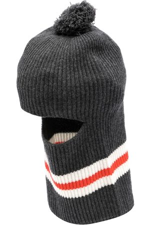 Cashmere In Love Wira pompom balaclava hat - Grey