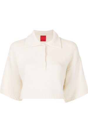 Cashmere In Love Women Polo Shirts - Demi cropped cashmere polo shirt