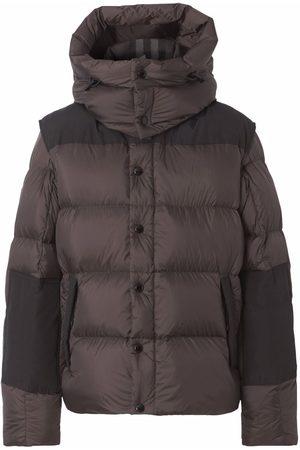 Burberry Detachable-sleeve padded coat