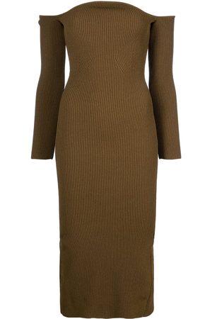 KHAITE The Matilda off-shoulder dress