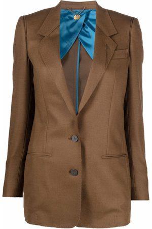 Maurizio Miri Mila single-breasted wool blazer