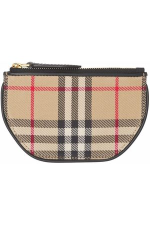 Burberry Women Wallets - Vintage Check Olympia coin case - Neutrals