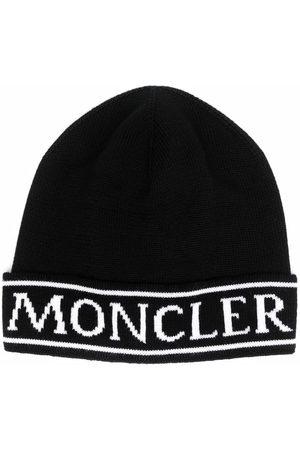 Moncler Intarsia-logo knit beanie