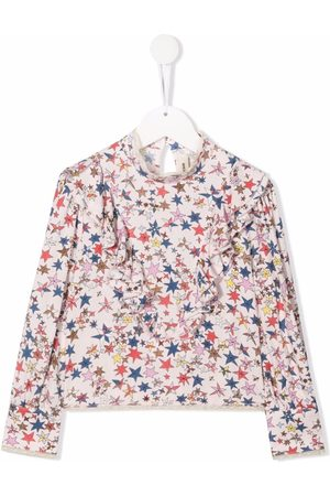Zadig & Voltaire Kids Star-print ruffle-trimmed blouse